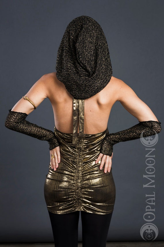 Chainmail Hood Knitting Pattern : The ChainMail Hood & Sleeve Set in Black and by ...