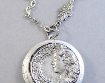 Brigid Locket,Irish Celtic Goddess,Goddess Locket,Celtic Jewelry,Greek Goddess,Silver Goddess Locket,Irish diety,celtic diety,vallgirldesign