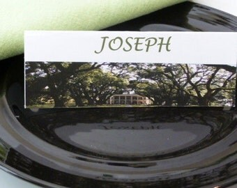 Place Cards / Name Cards/ Food Tents - Oak Alley Plantation Louisiana - Set of 6