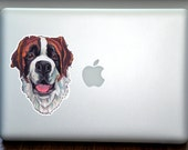 Saint Bernard Full Color Art Decal Apple Macbook Laptop