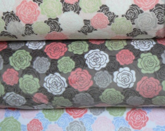 Rose Bloom Cuddle Minky Fabric by Shannon Fabrics - 1 yard
