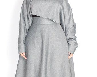 Plus size Sweatshirt Crop top