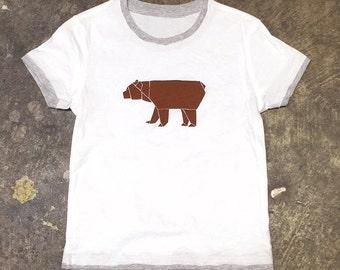 Origami Bear Toddler T-Shirt - Screenprint Tee