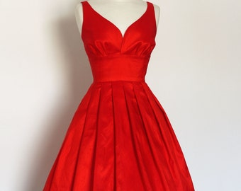 Scarlet Silk Dupion Prom Dress - Made by Dig For Victory