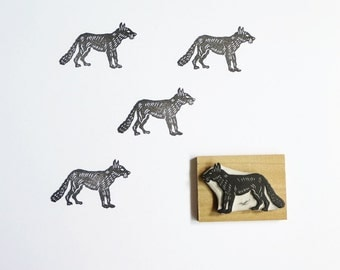 Little Fox - Hand Carved Rubber Stamp