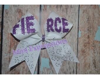 "3"" Fierce Rhinestone Glitter Cheer bow"