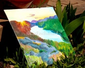 Original Painting Lake of the Clouds at Sunrise **Actual Painting**
