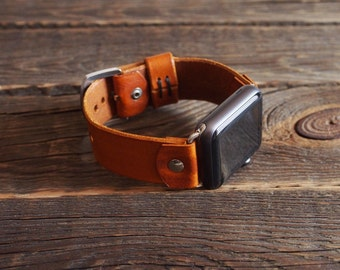 Sale 15% Off Apple Watch Band- Apple Watch Strap - Retro / Vintage / Oldschool /  Rustic Style - Handmade leather strap/band for Apple Watch