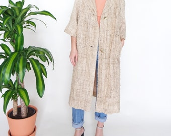 50s 60s Woven Tussah Silk Jacket // sz S/M