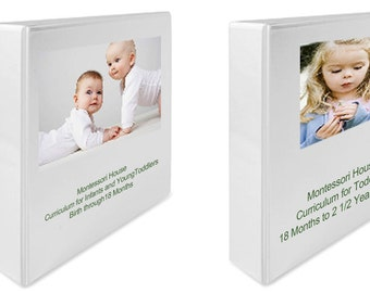 Montessori Curriculum Teaching Album at Home SET Infants through Older Toddlers