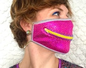 Pink Sparkle zipper dust mask for Burning Ma