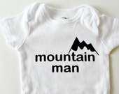 Mountain Man Shirt Baby Boy Gift Lumberjack Baby Shower Colorado Baby Ski Baby Winter Baby shower Mountain baby Lumberjack Birthday shirt