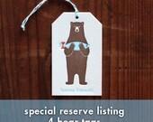 Letterpress Gift Tag  - Bear