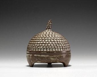 Handmade Ceramic Hobbit Box | Gnome Box | Stash Box 16-007