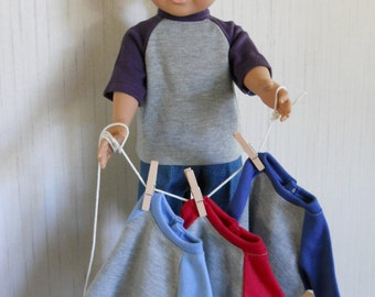 "18"" Boy Doll Clothes 2 Piece Your Color Choice Shirt with Jeans fits AG Type Dolls"