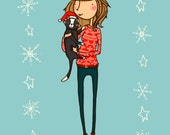 Personalised Christmas Card Portrait