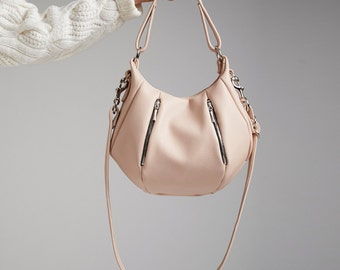 Soft Leather Handbag Purse OPELLE Baby Ballet Bag