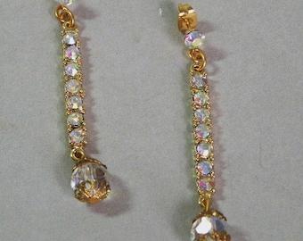 Crystal Iris Dangle Earrings