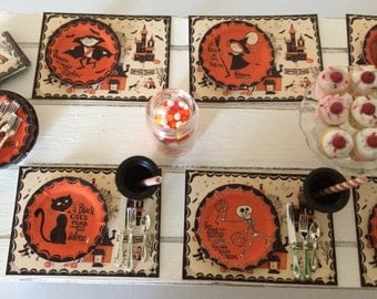 HALLOWEEN PARTY DECORATIONS - Spooky Town - Choose 1/12 Scale or 1:6 Playscale Miniature