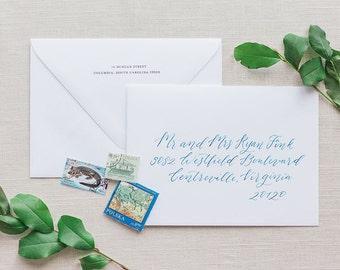Wedding Calligraphy Envelope Addressing - Custom Ink Modern Calligraphy - Hatcher Pass Style