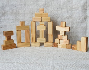 36 piece Wooden blocks, building blocks, wooden toys, eco friendly toys, toddler gift