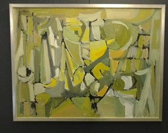 1953 Abstract Painting Oil on Canvas