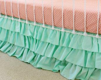 Mint 3-Tier Ruffle Skirt