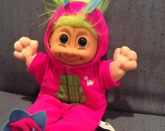 Russ Troll Doll Plush - Dinosaur Dragon Costume