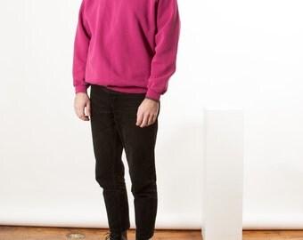 Raspberry Bold Sweatshirt / Oversized Sportwear / Long Sleeve Casual Jumper