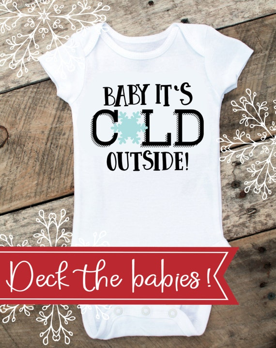 Baby It's Cold Outside Onesies® For Boy, Christmas Onesie For Baby Boy, Winter Onesie, Christmas Gift For Baby, Toddler Shirt, Boy Onesie