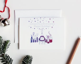 Holiday Chemistry Letterpress Box of Six Greeting Cards