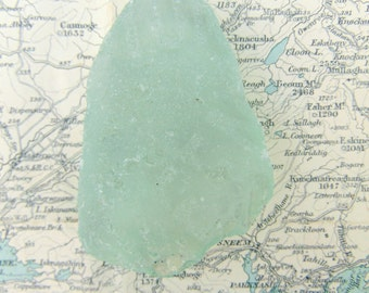 Sea Foam Frosted Sea Glass, Pale Green Seaglass from Ireland, Mermaid's Teardrop Irish Sea Glass