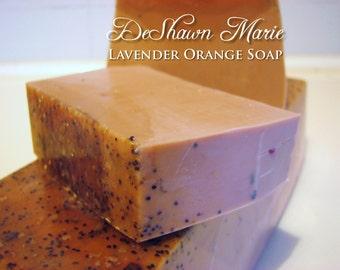 SOAP - 3LB. Lavender, Orange, Ginger Vegan Handmade Soap Loaf, Wholesale Soap Loaves