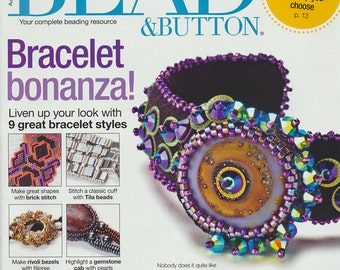 Bead & Button Magazine, August 2012 - Jewelry Making, Beading Resource, Back Issue
