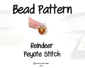 Red Nose Reindeer Beading Pattern, Christmas Seed Bead Craft | PDF Download