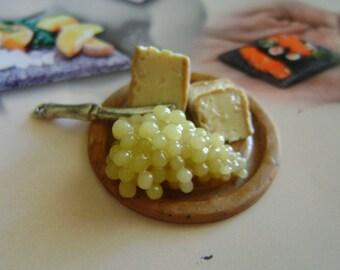 Dollshouse food 12th scale, antipasti platter, miniatures food , miniatur Dolls