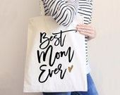 Tote Bags for Mom Friend or Bridal Party Natural Tote Bags Gifts for Bride Wedding Party Designer Style (Item - BEB300)