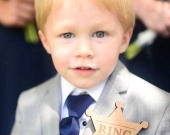 Ringer Bearer Gift Ring Security Badge Pin for Ring Bearer at Wedding - Ring Bearer Gift (Item - RNG100)