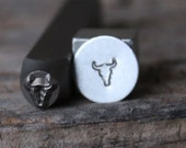 Long Horn Stamp-5mm Size-Steel Stamp-New Metal Design Stamps-by Metal Supply Chick-DCH63