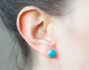 Littles Turquoise + Sterling Studs