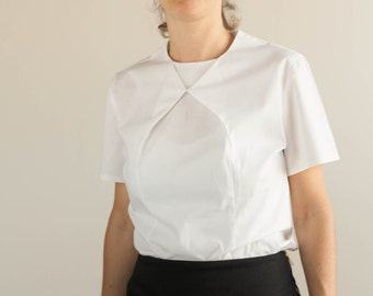 Triangles Shirt, White,Flattering, Original, Short sleeves