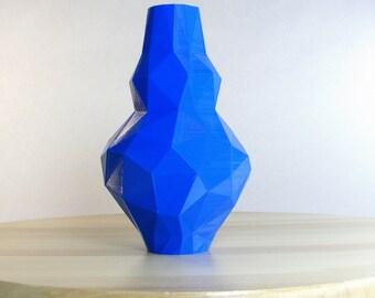 large vase cobalt blue bottle plastic vase tall blue vase deep blue vase decor cobalt blue vase