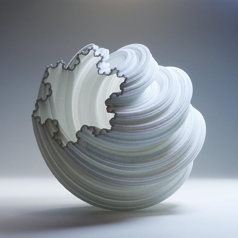 modern art vase modern vase luminary 3d printed fractal modern. Black Bedroom Furniture Sets. Home Design Ideas