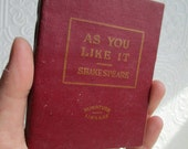 As You Like It by William Shakespeare  - Miniature Book Little Leather Library 1920s Antique Vintage