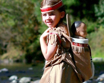 Native American inspired Girl Indian pretend dress up fun  Toddler Costume