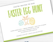 Easter Egg Hunt Invitation Digital Printable