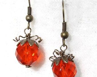 Pumpkin tendril earrings