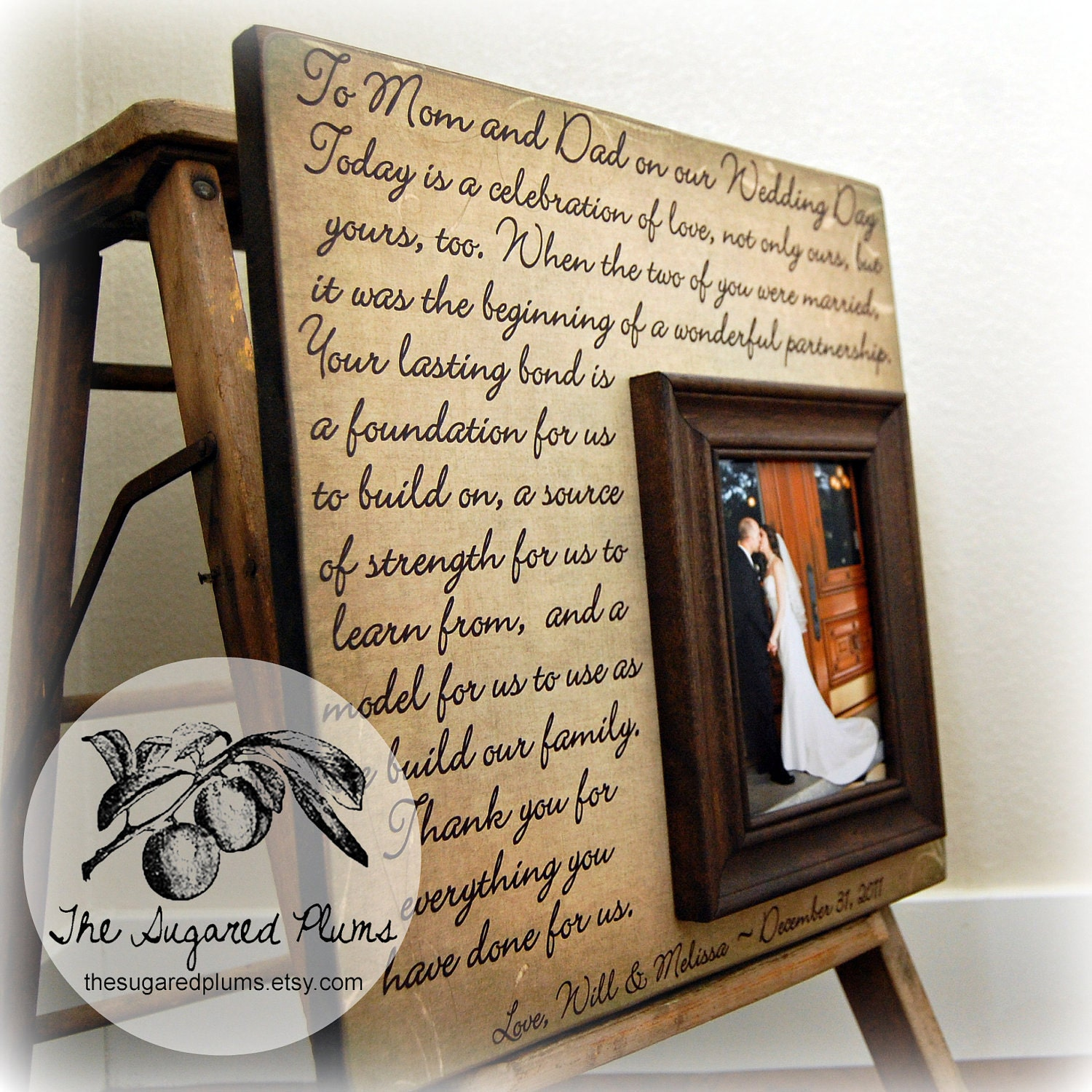Parents Wedding Gift Parents Of The Groom Father Of The