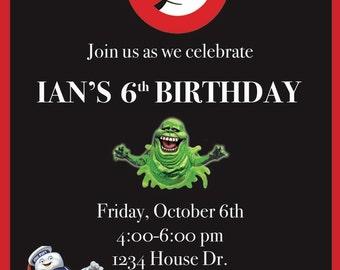 Ghostbusters Invitation