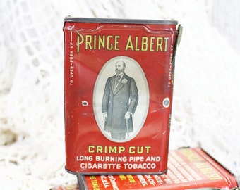 Prince Albert Crimp Cut Tobacco Can, Tobacco Tin, Vintage Tin